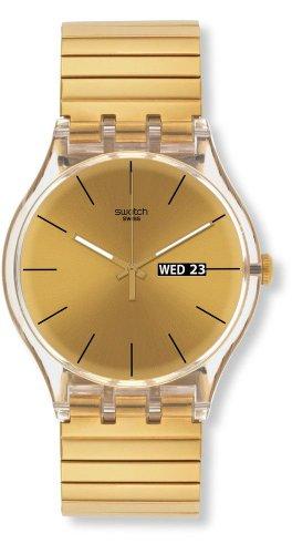 Swatch Damen Digital Quarz Uhr mit Plastik Armband SUOK702A