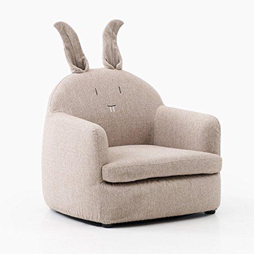 LRW Sofá Lavable para niños Niña Princesa Oso de Conejo Silla de bebé Lazy Sofa Chair Cute Cartoon Pequeño sofá (Color : Rabbit)