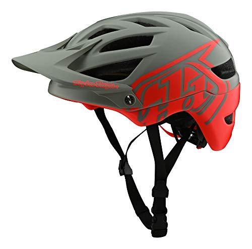 Troy Lee Designs Adult   Trail   All Mountain   Mountain Bike A1 MIPS Classic Helmet (SM, Orange/Gray)