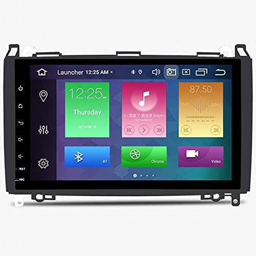 ZLTOOPAI Android 10 Octa Core 4G RAM 128G Rom Lettore multimediale per Auto per Mercedes Benz Sprinter Vito W639 Viano B200 Classe B W245 Classe A W169 VW Crafter con Schermo HD da 9'' Auto GPS Radio