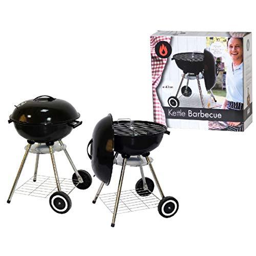 AK Sport 1370003 Barbecue Boule Métal Noir