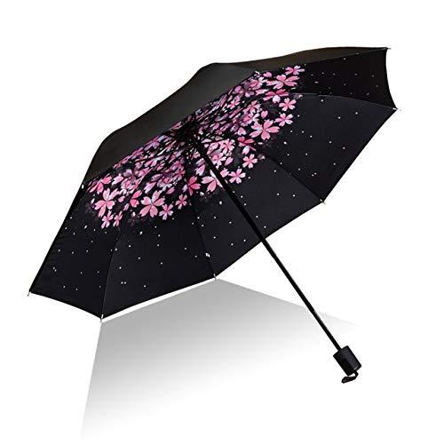 PPGG Paraplu's Vrouwen Bloemen Paraplu Vouwen Waterdichte Uv zon Paraplu Bloem Paraplu Mini Zonnige Parasol Lady Reizen Paraplu's Als Beeld