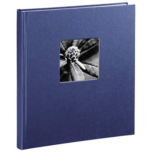 Hama Fotoalbum Fine Art, 29 x 32 cm, 50 Seiten, 25 Blatt, mit Ausschnitt für Bildeinschub, blau
