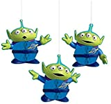 Amscan'Toy Story 4' Green and Blue Aliens Honeycomb Party Decorations, 3 Ct, 290129