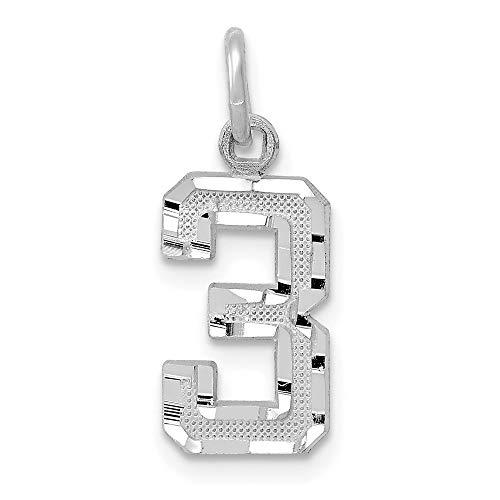 14 K oro blanco 14 kw casted pequeño diamante corte número 3 encanto