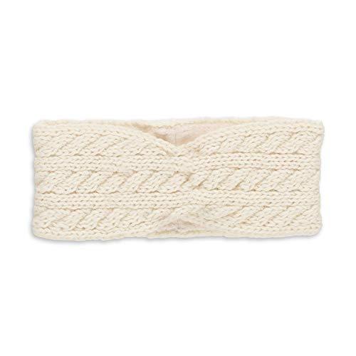 Sterntaler Twist Strick-Stirnband für Mädchen mit Fleece-Futter, Alter: 1,5 - 4 Jahre, Größe: 51/53, Beige (Ecru)