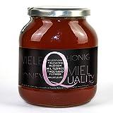 Miel pura de abeja 100%. Miel cruda de Mil Flores. 1 Kg. Producida en España. Sin pasteurizar ni calentar. Artesana de alta calidad. Tarro de cristal. Gran variedad de exquisitos sabores.