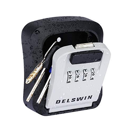 Key Lock Box - Key Safe Box Wall Mounted Waterproof Key Storage Lockbox with 8 Keys Super Large Capacity for Hide a Key Outside Home Garage Airbnb Realtor[2020 Updated]
