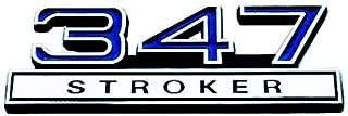 Blue & Chrome 347 Stroker Emblem - Universal Application