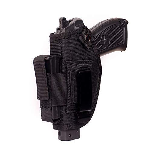 PERVING Gun Holsters for Men/Women,Left Hand and Right Hand Holsters for Pistols,IWB/OWB Holsters for Concealed Carry,Universal Urban Carry Belt Holster,Nylon,Black.