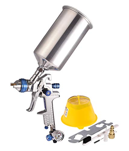 Dynastus 1 Quart HVLP Air Spray Gun Auto Car Detail Paint Sprayer, 2.5mm Nozzle, with Filter and Air Regulator