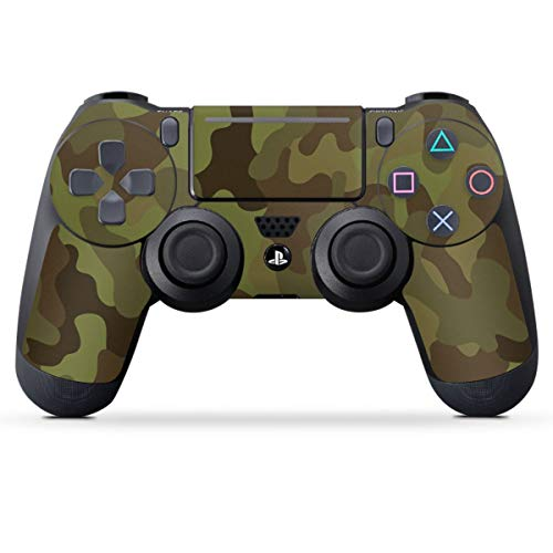 DeinDesign Skin kompatibel mit Sony Playstation 4 PS4 Pro Controller Folie Sticker Camouflage Tarnmuster Bundeswehr