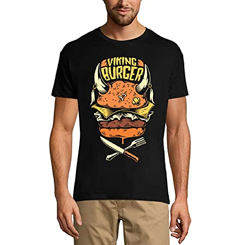 Ultrabasic Camiseta de hombre Viking Burger - Camiseta de manga corta - negro - 5X-Large