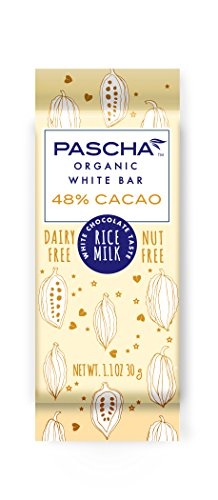 Pascha Organic Vegan Rice Milk White Chocolate Bars, UTZ, Gluten Free & Non GMO, 1.1 Ounce, Pack of 15