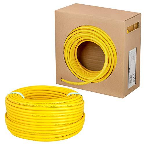 HB-Digital 25m cat 7 Cable de red LAN, velocidad de transferencia de hasta 10 Gbps, cobre profesional S/FTP PIMF LSZH sin halógenos, cumple con RoHS, Categoría 7, AWG 23/1