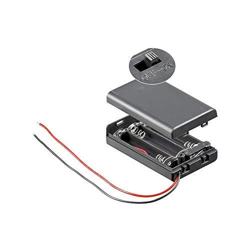Goobay 48143 3x AAA (Micro) Batteriehalter, Lose Kabelenden, Wasserabweisend, Schaltbar