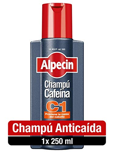 Alpecin Champú Cafeína C1 1x 250ml | Champu anticaida hombre y con cafeina | Tratamiento para la caida del cabello | Alpecin Shampoo Anti Hair Loss Treatment Men
