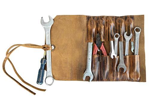 Werkzeugkoffer aus Leder |Leder Kleine Werkzeugtasche |Kleine Lederwerkzeugrolle |Werkzeugkoffer aus Leder |Tools Case Organizer Leder