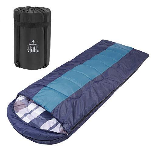 CampFeuer Deckenschlafsack | 220 x 85 cm | Erwachsene | Schlafsack für Camping und Outdoor Aktivitäten (Navy/blau)