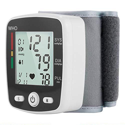 Recargable Arterial De Muñeca Monitor De Presión Digital Automático De Frecuencia Cardiaca Pr Tonómetro Esfigmomanómetro 1pc