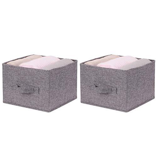 Kisbeibi Caja de almacenamiento, contenedores de almacenamiento a prueba de agua, organizadores de contenedores de almacenamiento con asa para juguetes, libros, dormitorio, hogar (2 cajones)