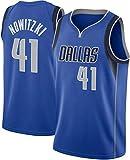 Camiseta De La NBA Para Hombre, Dallas Mavericks Dirk Nowitzki # 41 Camiseta Para Fanáticos Ropa De Entrenamiento De Baloncesto De Malla Bordada Retro, Camiseta Unisex Sin Mangas,L(175~180CM/75~85KG)