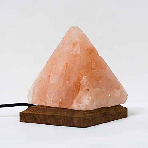Klass Home Collection® - Lámpara LED multicolor con forma de sal de roca natural del Himalaya, multicolor