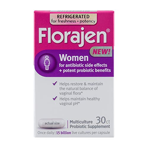 Florajen Women High Potency Refrigerated ProbioticsMaintains Women's Healthfor Antibiotic Side Effects30 Capsules