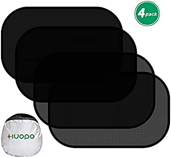 4-Pack Huopo Car 20 x 12 Inch Sun Shades for Side Window