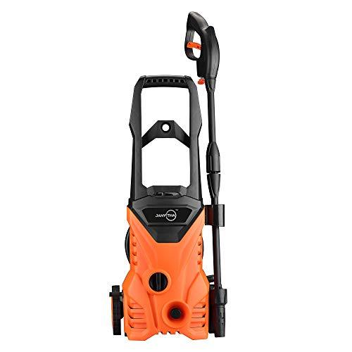 Janvitha Universal Motor High Pressure Home and Car Washer 1600W Imported 115 Bar, 220-240v-50Hz 1600 Watts Pressure Washer (Orange/Black) - 12 Months Warranty