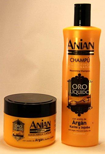 Anian Set de cuidado del cabello de 400 ml de champú y mascarilla de 250 ml