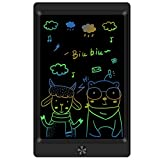 LCD Writing Tablet Drawing Board, 8.5 Inch Colorful Electronic Drawing Tablet Kids Doodle Board Writing Pad for Kids and Adults at Home, School and Office with Lock Erase Button(Black)