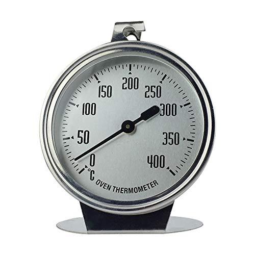 adfafw Edelstahl Ofenthermometer 0-400 °C, Ofen Thermometer Küche Backen Werkzeug Ofenthermometer