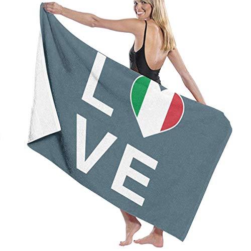 Toalla de baño, con la bandera italiana de Italia de la bandera patriota de Italia, toallas de baño súper absorbentes, para gimnasio, playa, SWM Spa
