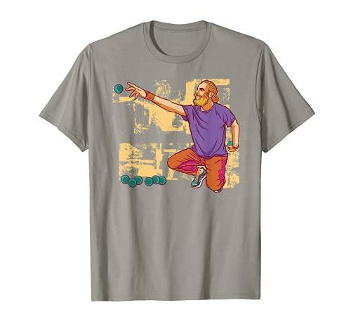 Hombre Jugador de petanca lanza la pelota de petanca Camiseta