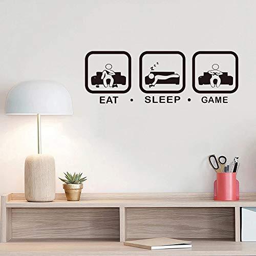 Eat Sleep Game Etiqueta de la pared Game Joystick Game Room Etiqueta de la pared Etiqueta de la...