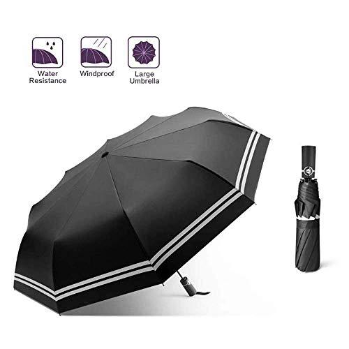 AIWKR Paraplu, Winddichte Automatische Paraplu Licht Compact Opvouwbare Paraplu 10 Ribs Automatische Open-Close Paraplu voor man en vrouw gebruik