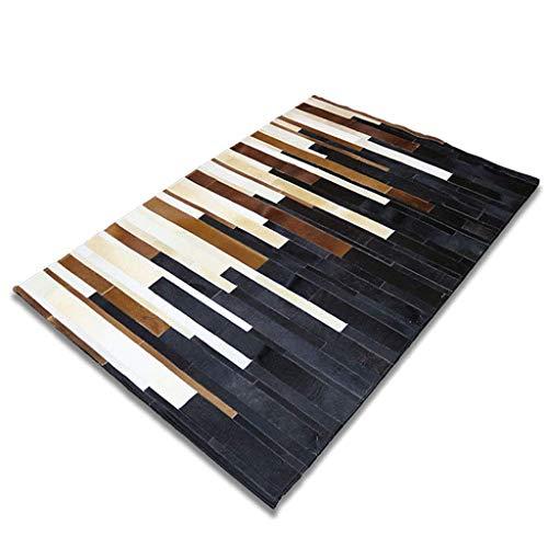 ACZZ Teppiche Luxuriöser Teppich, Teppich Handgemachtes Patchwork Echter Lederteppich Rutschfeste Klavierunterlage Wohnzimmer Schlafzimmer Arbeitszimmer Rechteckiger Nachtteppich - Piano Pattern Stit