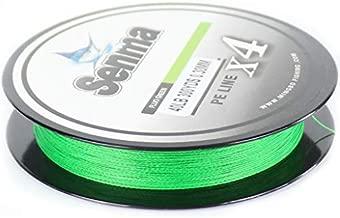 SENMA Super Braided Fishing Line 8lb-80lb High Performance PE Fishing Lines 300YDS/500YDS Ultra-high Sensitivity & Zero Stretch 4 Strands Wire (Fluo Green, 300yds/80LB)