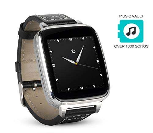 Beantech Smart Watch for Apple/Android Phones. 8GB of Music Storage. Silver with Leather...