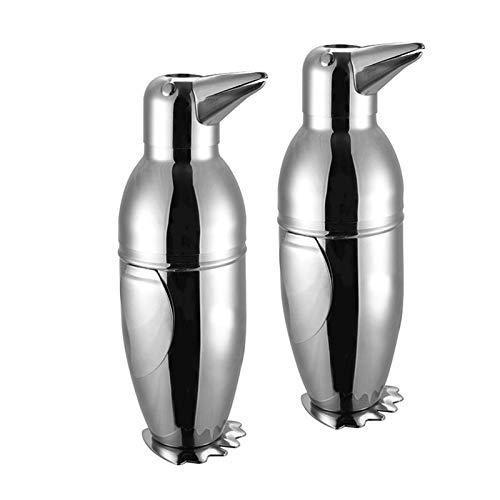 WYZQ Cubo de Hielo 2PCS 304 Acero Inoxidable Pingüino Cubo de Hielo Barril de Vino Cubo de Hielo Creativo para Fiestas, Bar y Home Bar, Barware