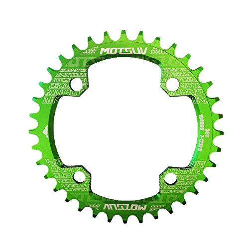 COEWSKE Bike MTB Single Kettenblatt 104BCD 32t-38t rund Kettenblatt, grün, 32T