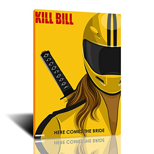 1pcs HD Art Poster Kill Bill Poster Art Wall Picture Canvas Wall Art Painting for Bedroom Wall Décor (colorful,30x40cm-framed)