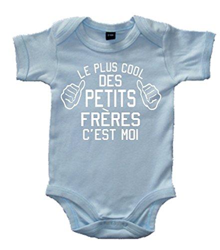 Edward Sinclair Le Plus Cool des Petits Freres Cest Moi' 62-68 Bleu Ciel Body bébé