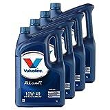 VALVOLINE 4 x Aceite para Motor Motor Motor Motor Motor Aceite Gasolina Diesel líquido Gas All Climate Extra 10 W-40 5L