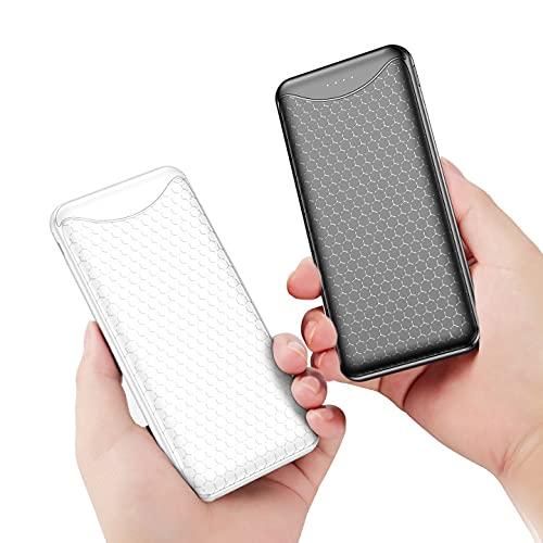 Vancely 2 Pezzi Powerbank 10000mAh PD 18W,USB C A Caricatore Portatile Carica Rapida QC 3.0,Ultra Sottile Quick Charge Power Bank Type-C 3A,3 uscite Batteria Esterna per iPhone,Samsung,Huawei