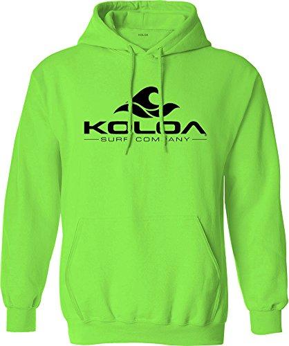 Koloa Surf Wave Logo Hoodies - Hooded Sweatshirt, L-Neon Green/b