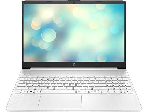 HP 15s-eq1023ns - Ordenador portátil de 15.6' HD (AMD Athlon 3050U , 8GB RAM, 256GB SSD, AMD Radeon Graphics, sin sistema operativo) blanco - Teclado QWERTY Español