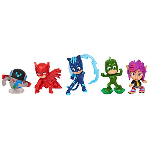 Giochi Preziosi - Super Pigiamini PJ Masks Set 5 Personaggi, Modeli Assortiti