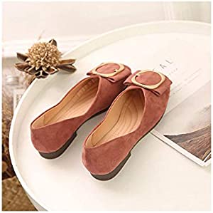 Women Flats Shoes Round Toe Fresh Color Office Lady Shoes Slip On Loafer Soft Ballet Flat